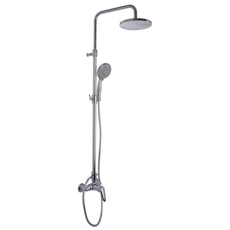 Serie 2 miscelatore doccia esterno con colonna doccia - Doccia con soffione e doccetta ...